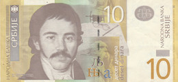 BANCONOTA SERBIA 10 DINARA EF (ZX1529 - Serbia