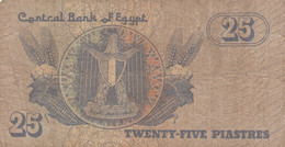 BANCONOTA 25 PIASTRE EGITTO VF (ZX1534 - Egypte