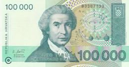 BANCONOTA 100.000 DINARO CROAZIA UNC (ZX1537 - Kroatien