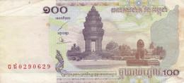 BANCONOTA CAMBOGIA 100 VF (ZX1573 - Cambodja