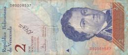 BANCONOTA  VENEZUELA 2 VF (ZX1590 - Venezuela