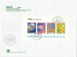 FOGLIETTO FDC VIAGGIATO ITALIA 1999 (ZX1612 - F.D.C.