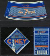 Belgique Lot 3 Étiquettes Bière Beer Labels Ciney Cuvée Brune - Bière