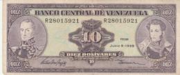 BANCONOTA  10 VENEZUELA VF (ZX1627 - Venezuela