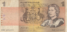 BANCONOTA AUSTRALIA 1 VF (ZX1637 - Decimaal Stelsel Overheidsuitgave 1966-...