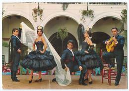 """1013 - LLORET DE MAR (Espagne) - Ballet Español """"Los Flamencos"""" En EL RELICARIO -Animée -Circulée 1968 -Scan Recto-verso - Other"""