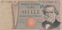 BANCONOTA LIRE 1000 VERDI ITALIA VF (ZX1648 - [ 2] 1946-… : Républic