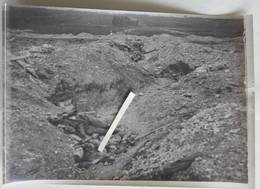 1916 1917 Champagne Cadavre Allemand Positions Bouleversées Tranchée Poilu Ww1 14-18 Photo - Krieg, Militär