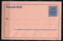 """German Empires,DR  1921 Rohrpostumschlag Mi.Nr.RU 10""""Großewertziffer,rosa  """"1GS Ungebraucht - Allemagne"""