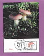 FDC SAINT PIERRE MIQUELON 1988 Champignons FDC Russule Orangée 2,50f Saint-Pierre 29 01 1988 - Pilze