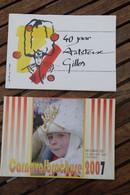 Aalst Carnaval  2007 2011 Carnavalbrochure Gilles 2 Stuks - Fasching & Karneval