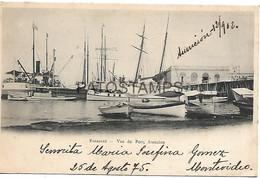 143014 PARAGUAY ASUNCION VISTA DEL PUERTO PORT & SHIP POSTAL POSTCARD - Paraguay
