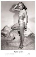 PHYLLIS COATES - Film Star Pin Up PHOTO POSTCARD - L220-4 Swiftsure Postcard - Cartoline