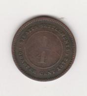 ETABLISSEMENTS DES DETROITS - STRAIT SETTLEMENTS - 1/4 CENT VICTORIA 1872 CUIVRE - Malasia