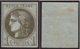 Timbre France Classique Cérès 1c N°39C Neuf* Authentique à Seulement 18% De La Cote - 1870 Emisión De Bordeaux