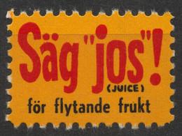 Juice Drink Advertising - SWEDEN Label Cinderella Vignette - Autres