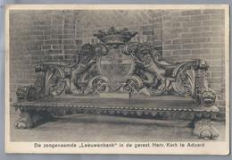 NL.- ADUARD, GRONINGEN. DE ZOOGENAAMDE - LEEUWENBANK - IN DE GERESTAUREERDE HERVORMDE KERK TE ADUARD. - Chiese E Cattedrali
