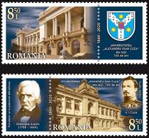 Romania 2020 / Iasi University Alexandru Ioan Cuza / Set 2 Stamps With Labels - Nuevos