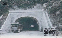 BRAZIL(Sistema Telebras) - Tram, Arquivo Geral Da Cidade Do Rio De Janeiro Acervo/Tunel Do Leme, 09/96, Used - Treni