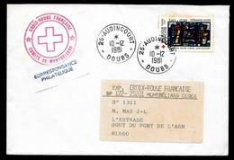 1981 Lettre Avec Cachet CROIX-ROUGE FRANCAISE Comité De Montbéliard Déposée à 25 AUDINCOURT Doubs - Marcophilie (Lettres)