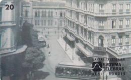 BRAZIL(Sistema Telebras) - Tram, Arquivo Geral Da Cidade Do Rio De Janeiro Acervo/Hotel Avenida, 09/96, Used - Treni