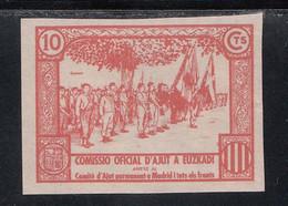 Comissio Oficial D'Ajunt A Euzkadi, 10 C. Rosa, (Al.186s,) SIN DENTAR. - Viñetas De La Guerra Civil