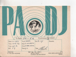 Cpa.Cartes QSL.PAoDJ.Rotterdam.1959.to PAOKA - Radio Amatoriale