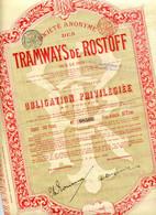TRAMWAYS De ROSTOFF Sur Le Don; Obligation - Russia
