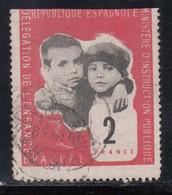 Republique Espagnole, Delegation De L'enfance Evacue, 2 Fr. Emitido En Francia. - Viñetas De La Guerra Civil