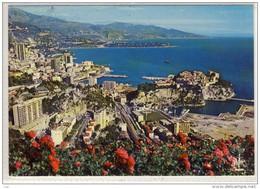 MONACO - Vue Generale De Monaco Et Monte-Carlo Au Fond Le Cap Martin Et L'Italie - Viste Panoramiche, Panorama