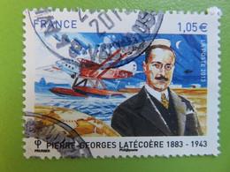 Timbre France YT 4794 - Pierre-Georges Latécoère - Globe Terrestre, Hydravion Et Portrait - 2013 - Cachet Rond - Used Stamps