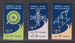 1984 Marshall Islands Maps & Navigators Complete Set Of 3 Unexploded Booklets MNH - Marshallinseln