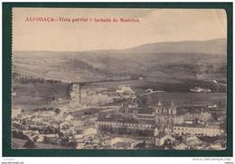 ALCOBAÇA - VISTA PARCIAL E FACHADA DO MOSTEIRO - PORTUGAL ( 2 SCANS ) - Leiria