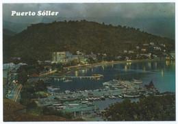 SOLLER - MALLORCA (Espagne) - Vista Parcial Nocturna Del Puerto - Vue Générale De Nuit, Port - Animée -Scan Recto-verso - Mallorca