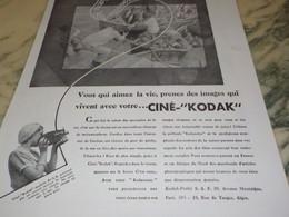 ANCIENNE PUBLICITE RETOUR DE PECHE CINE KODAK  1932 - Fotografía