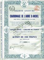 CHARBONNAGE De L'ARBRE ST-MICHEL - Mines