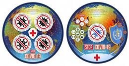 Liberia 2020, Against Covid, Red Cross, 4val In BF +BF - Liberia
