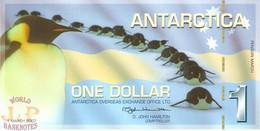 ANTARCTICA 1 DOLLAR 2007 PICK NL POLYMER UNC - Banknoten