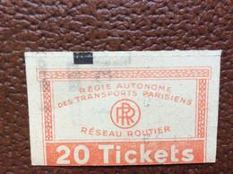 3 TICKETS RATP  Service Routier - Europe