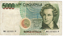 ITALIE - Billet De 5000 LIRES De 1985 - MC 257651 P - 5000 Lire