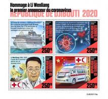 Djibouti 2020, Against Covid 19, Red Cross, Ship, Ambulance, 4val In BF - Gibuti (1977-...)