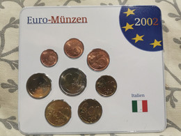 Monnaie, Italien  Euro-Münze 2002. Set Italia - Italia