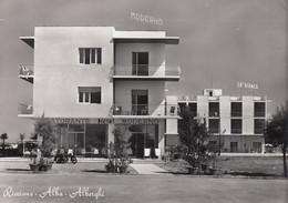 RICCIONE-RIMINI-ALBA-ALBERGO MODERNO-CARTOLINA VERA FOTOGRAFIA-VIAGGIATA IL 13-8-1958 - Rimini