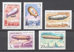 USSR 1991 Sol# 6339-43** AIRSHIPS - Ongebruikt