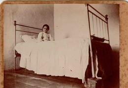 Cx14 D17) Portugal Fotografia Antiga Retrato Criança Doente Hermínia Abreu 9x12cm - Antiche (ante 1900)