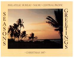 (P 1) Nauru Philatelic - Season Greeting 1987 - Nauru
