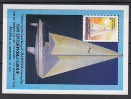 Grenadines Of St Vincent 1988 Launch Of Yacht Champosa V. S/S. MNH VF. - St.Vincent & Grenadines
