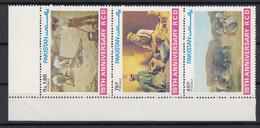 Pakistan 1979 15t Anniversary Of R.C.D. Paintings. Set In Strip Of 3. MNH. VF. - Pakistan