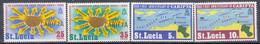 St. Lucia 1969 1st Anniversary Of CARIFTA. Set. MNH. VF. - St.Lucia (1979-...)