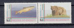 Pakistan 1994. Bio-Diversity Day. Animals. Bear. Fish. 2 Val. MNH. Vf. - Pakistan
